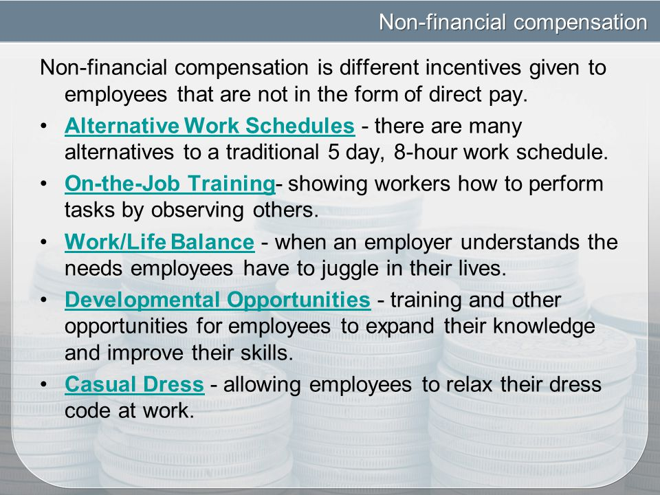 compensation non financial corporation By way of examples, audit committees meet more frequently and must have at least one qualified financial expert, and compensation committees have greater workloads today's corporate director needs to dedicate more time to the job, assume greater risk, and meet higher qualification standards.