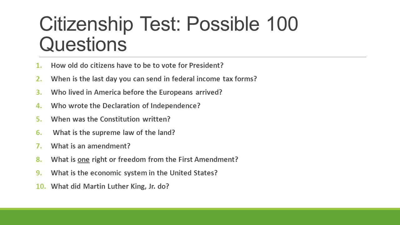 Writing Test at your US Citizenship Interview