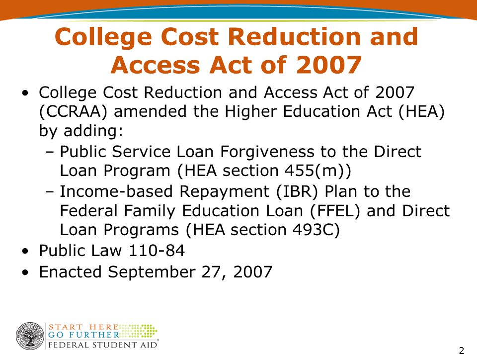 FFEL and Direct Loan Repayment Plans U.S. Department of Education - ppt video online download