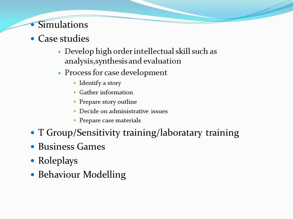 T Group/Sensitivity training/laboratary training Business Games
