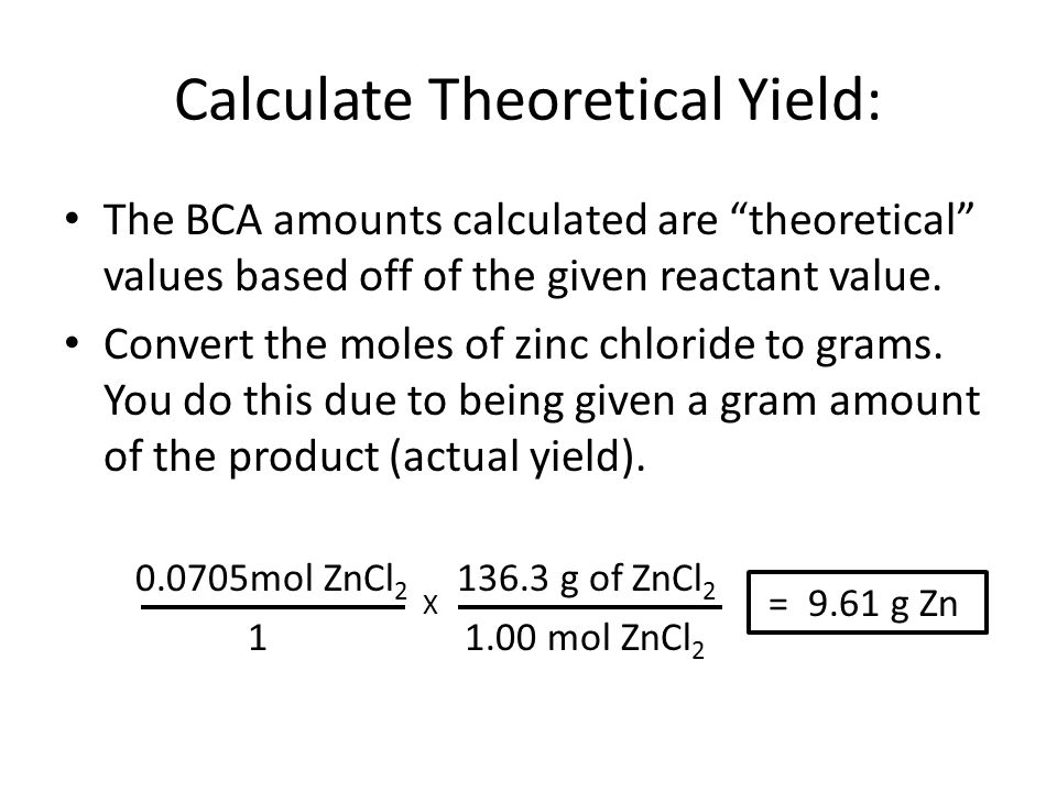 Calculating Theoretical Yield and Specific Activity