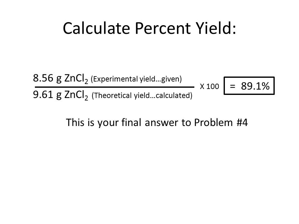Unit 8 Percent Yield Calculations ppt download – Stoichiometry Percent Yield Worksheet