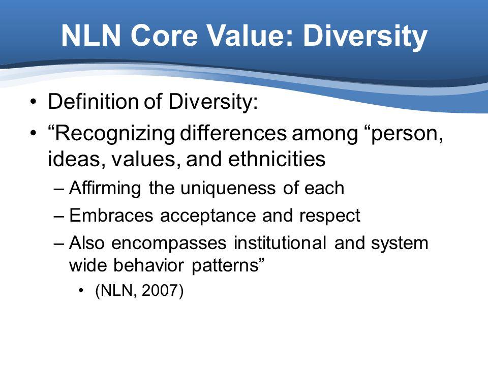 NLN Core Value: Diversity