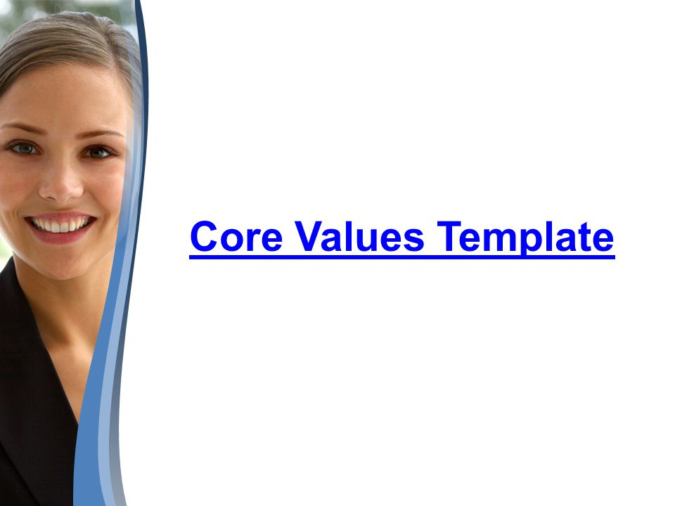 Core Values Template