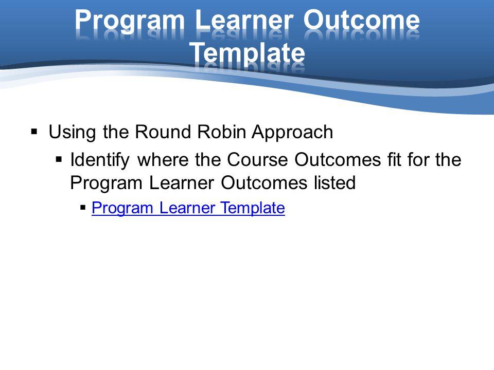 Program Learner Outcome Template