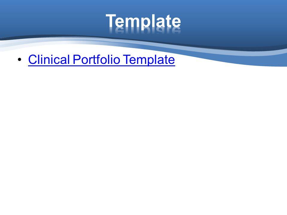 Template Clinical Portfolio Template