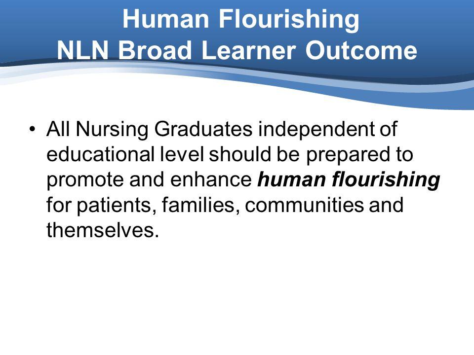 Human Flourishing NLN Broad Learner Outcome