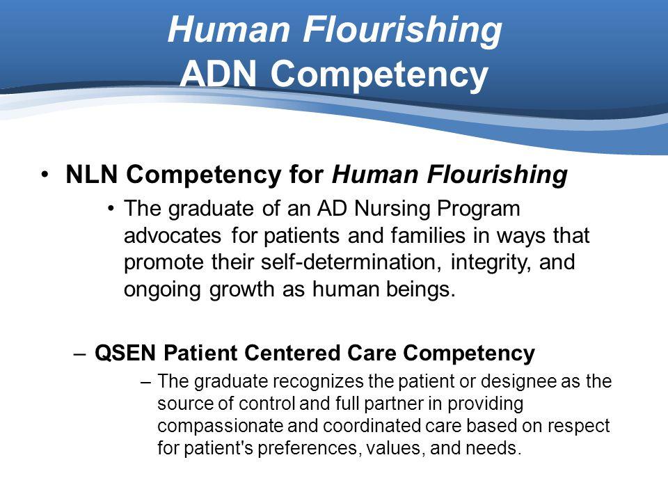 Human Flourishing ADN Competency