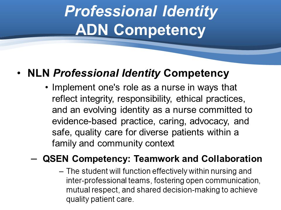Professional Identity ADN Competency