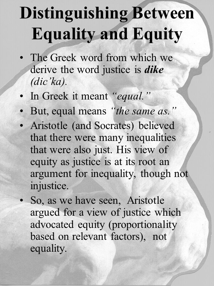 aristotles views on just society and equality Plato and aristotles or machiavellis ideas of citizenship philosophy essay print human nature education and a just society plato's and aristotle's views.