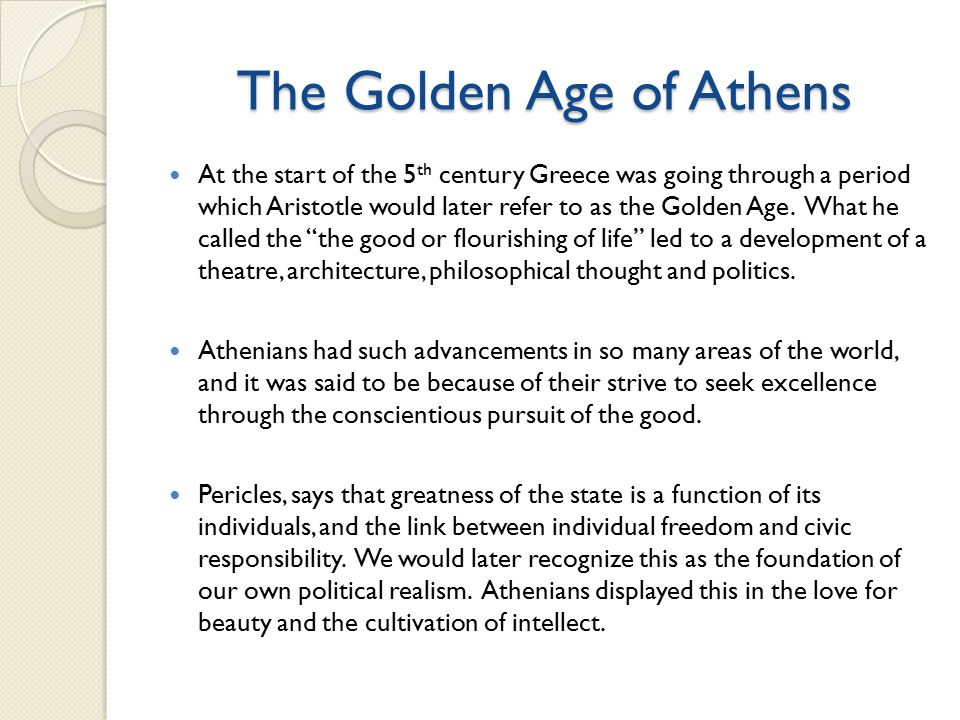 the great development in ancient greece and athens in the 5th century After the fall of alexander the great, and because of aristotle's ties with  in short,  not only did ancient greek philosophy pave the way for the western  he  developed a following that continued long past his death, on down to philolaus   thus, the sophists had no small influence on fifth century greece and greek  thought.