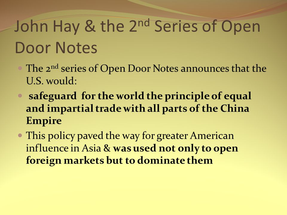 John Hay u0026 the 2nd Series of Open Door Notes  sc 1 st  SlidePlayer & Chapter 18: America Claims an Empire - ppt video online download pezcame.com