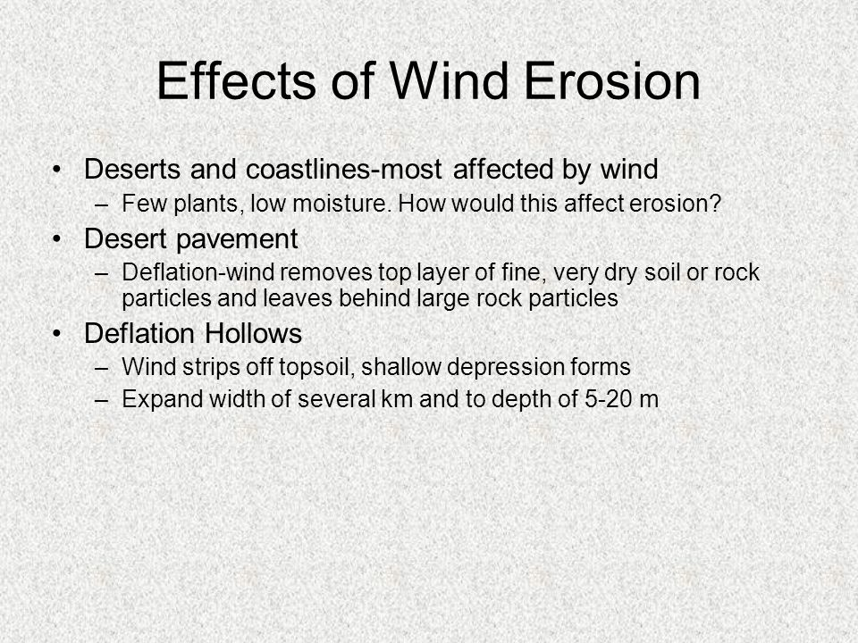 Effects of Wind Erosion