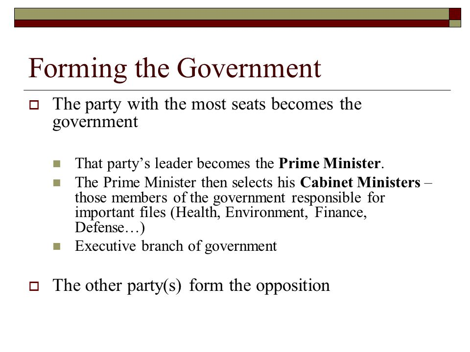 Forming the Government