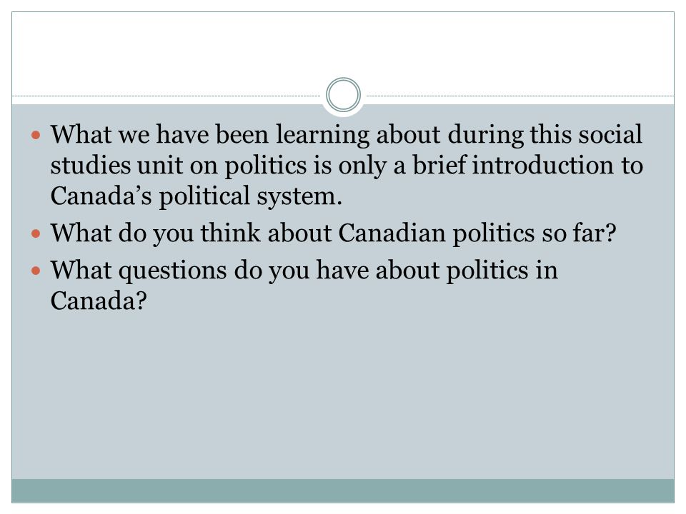 an introduction to the analysis of canadian politics