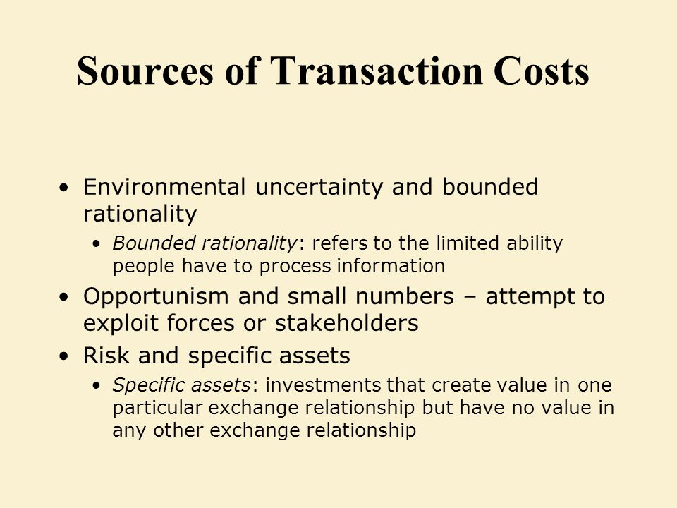 transaction cost economics theory pdf