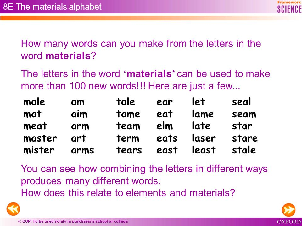 8e atoms and elements materials elements combining atoms - ppt
