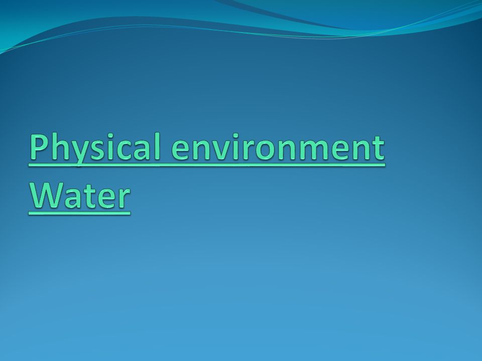 physical environment and health pdf