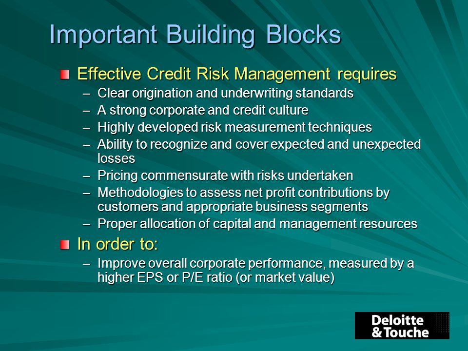 Credit Management policy