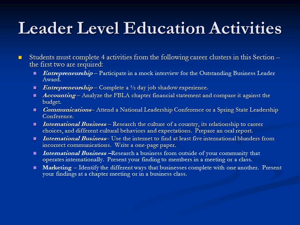 Integrating FBLA into the Curriculum - ppt video online ... - photo#22