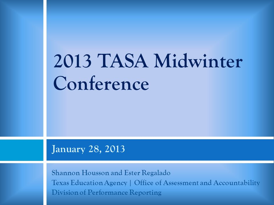 2013 TASA Midwinter Conference