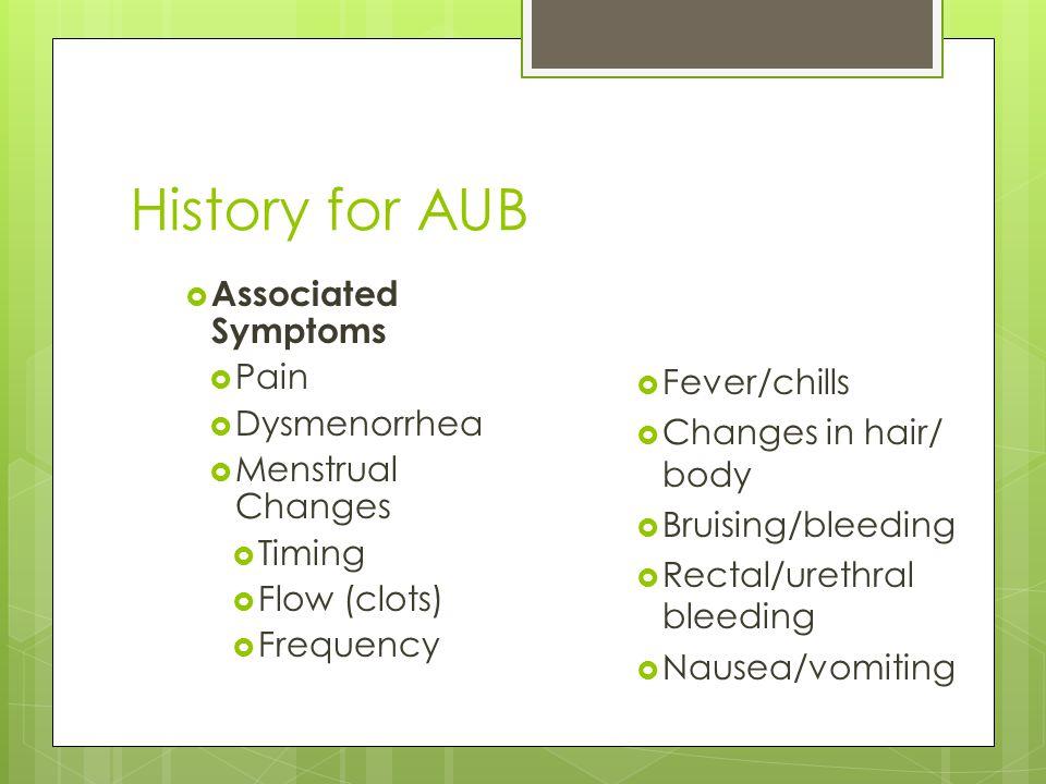 new onset heavy menstrual bleeding guidelines