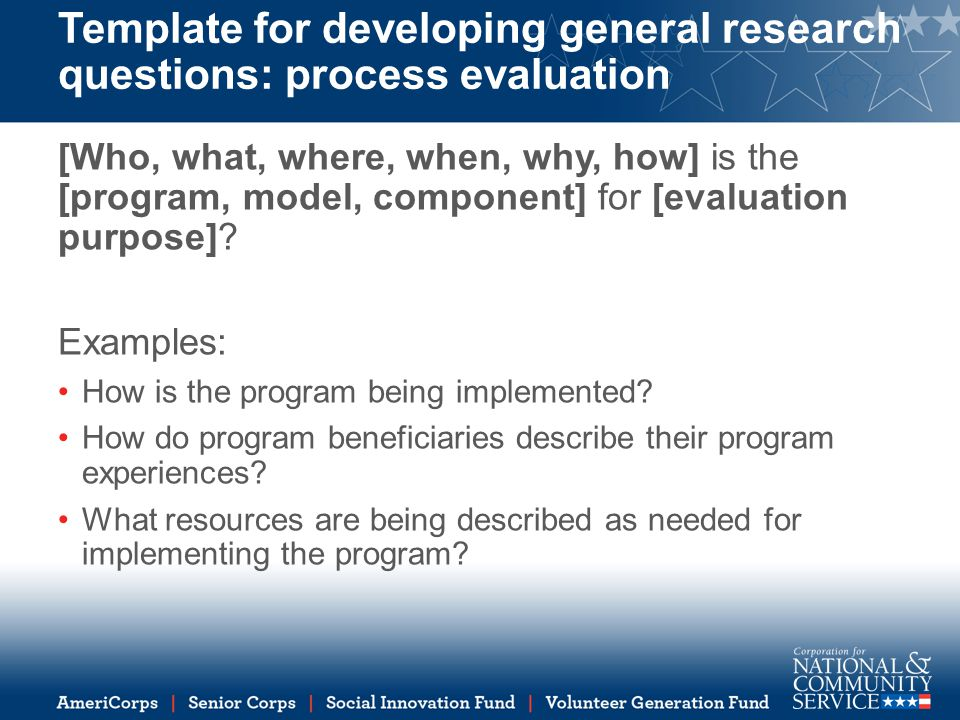research evaluation template