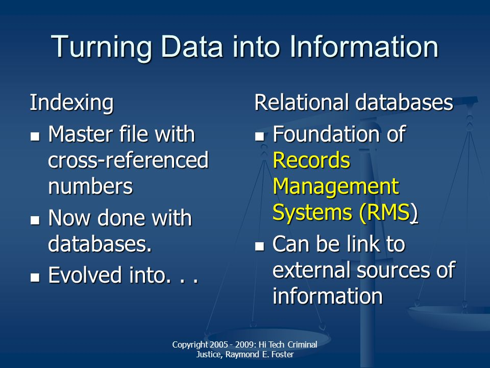 criminal record management system To the national criminal justice reference service (ncjrs) further  reproduction  management information systems (mis) can be defined as a  set of procedures  terms of the various record types and data elements  contained therein.