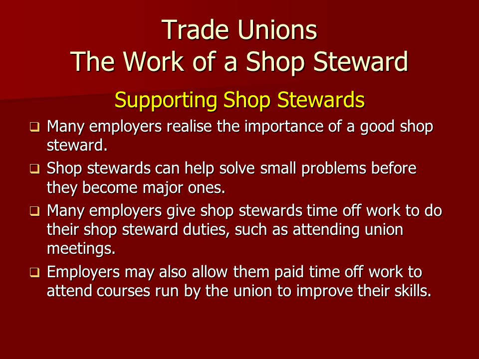 the importance of unions Role and importance of trade unions across the world the role and importance of trade unions varies across the world in fact in some countries, including the maldives and saudi arabia, trade unions are illegal industrial workers in pakistan have the right to form trade unions but a number of laws .