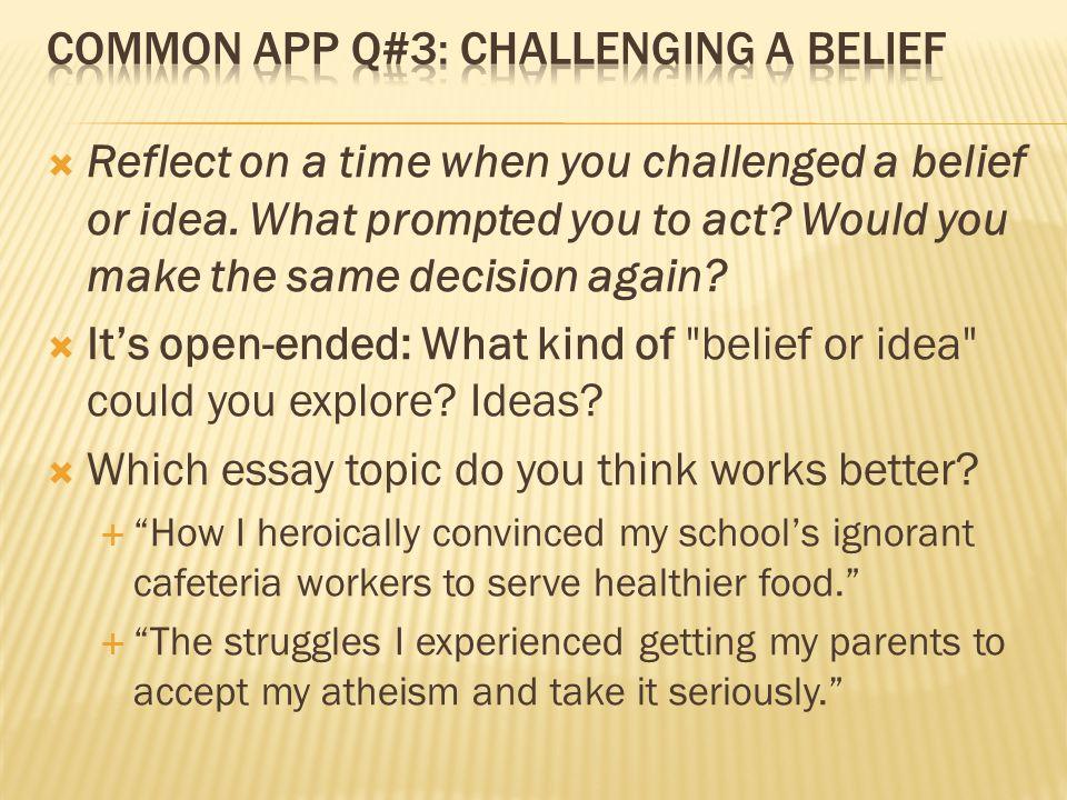 essays on belief