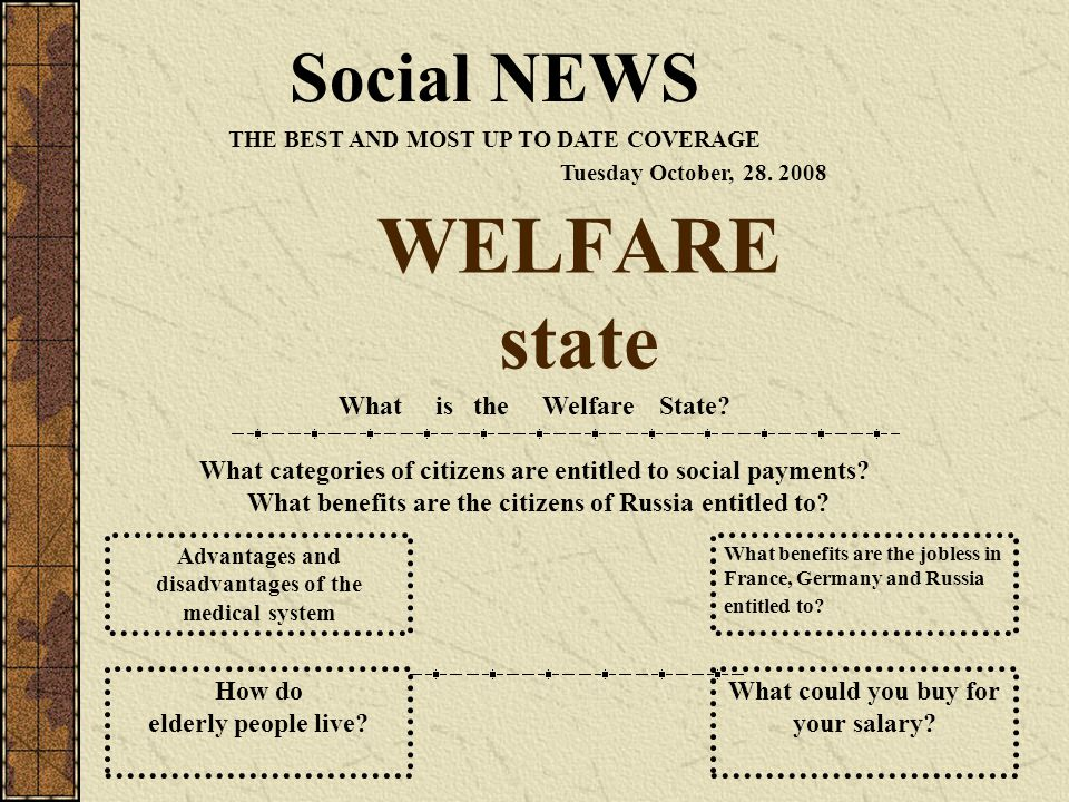 types benefits and disadvantages of welfare in the united states