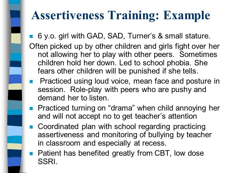 53 Assertiveness Training: Example