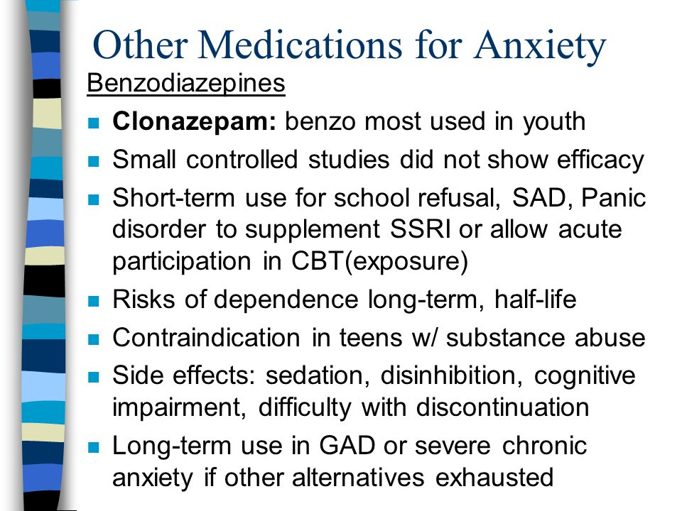 long-term use of klonopin for anxiety