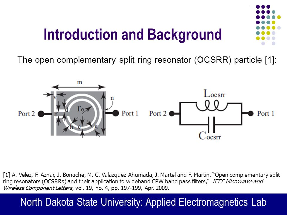 split ring resonator thesis Split ring resonator design for agricultural based applications a thesis submitted in partial ful llment of the requirements for the degree of master of science in.