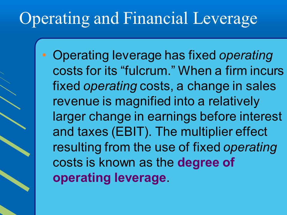 operating and financial leverage pdf