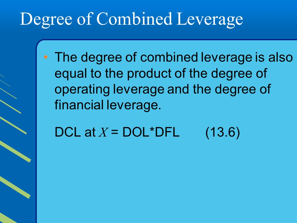 combined leverage operating income and earnings per share Definition the degree of financial leverage (dfl) is a ratio used in corporate finance to measure the sensitivity of earnings per share (eps) to the fluctuation in the operating income (also called earnings before interest and taxes or ebit.
