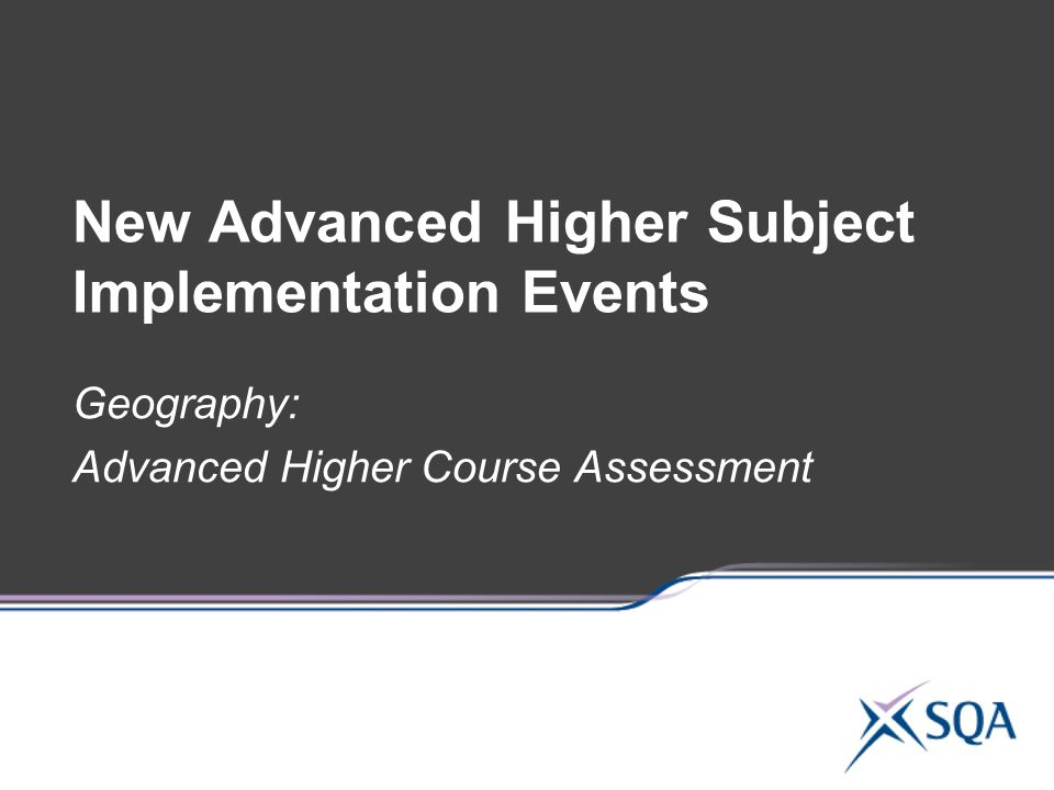 New Advanced Higher Subject Implementation Events