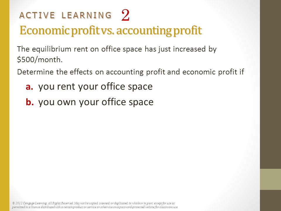 How do economic profit and accounting profit differ?