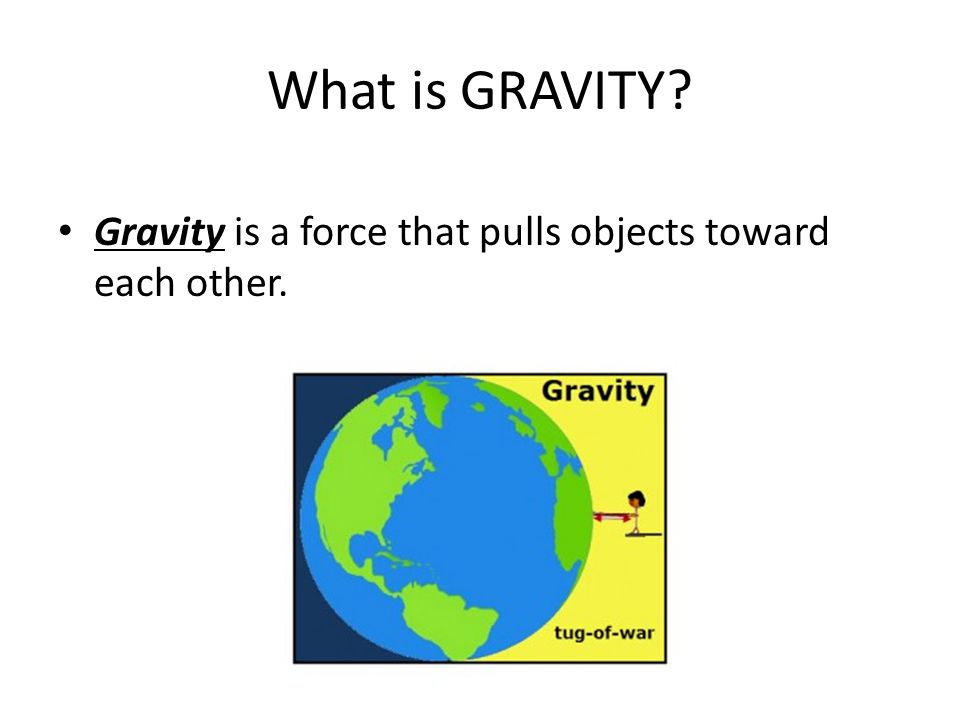 force and gravity relationship