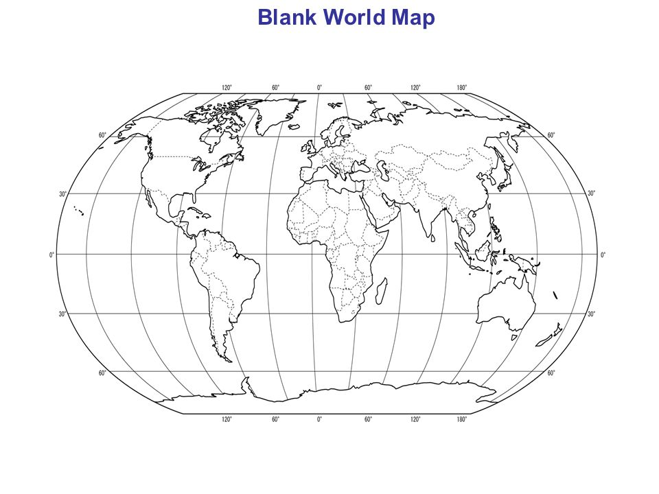 Basic Geography Th Grade Unit Ppt Video Online Download - Blank world map 6th grade