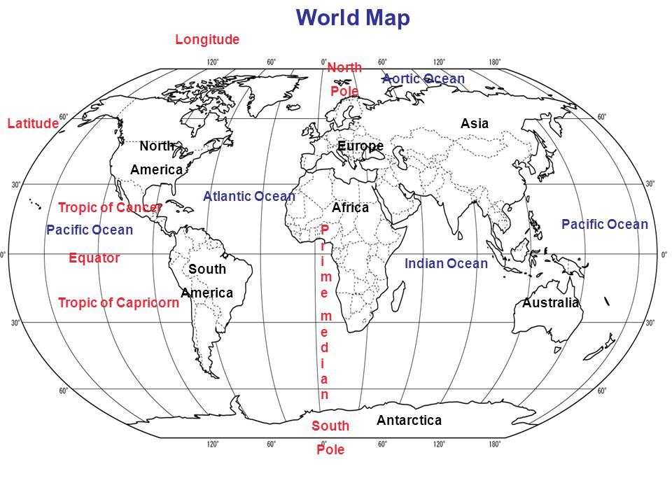6 World Map Longitude