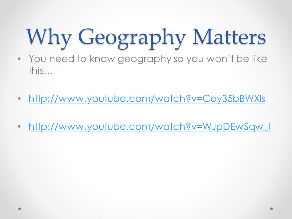 why geography matters and the return Coupon: rent why geography matters more than ever 2nd edition (9780199913749) and save up to 80% on textbook rentals and 90% on used textbooks get free 7-day instant etextbook access.