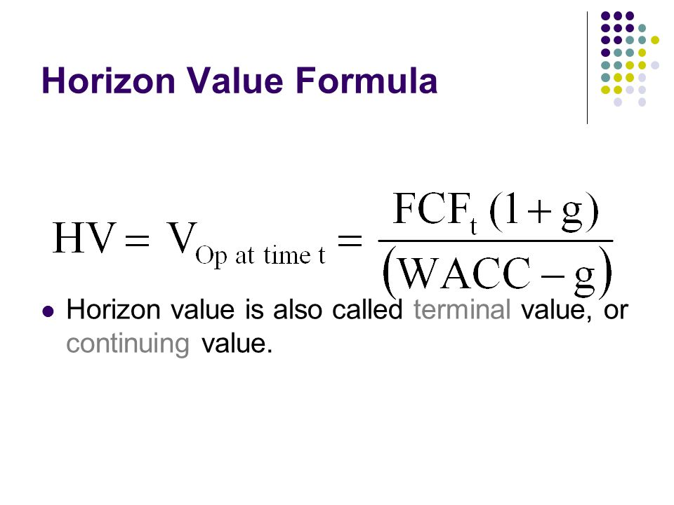 finance and terminal value Financial modelling techniques for valuation analysis financial modelling techniques for valuation analysis is designed to approaches to terminal value.