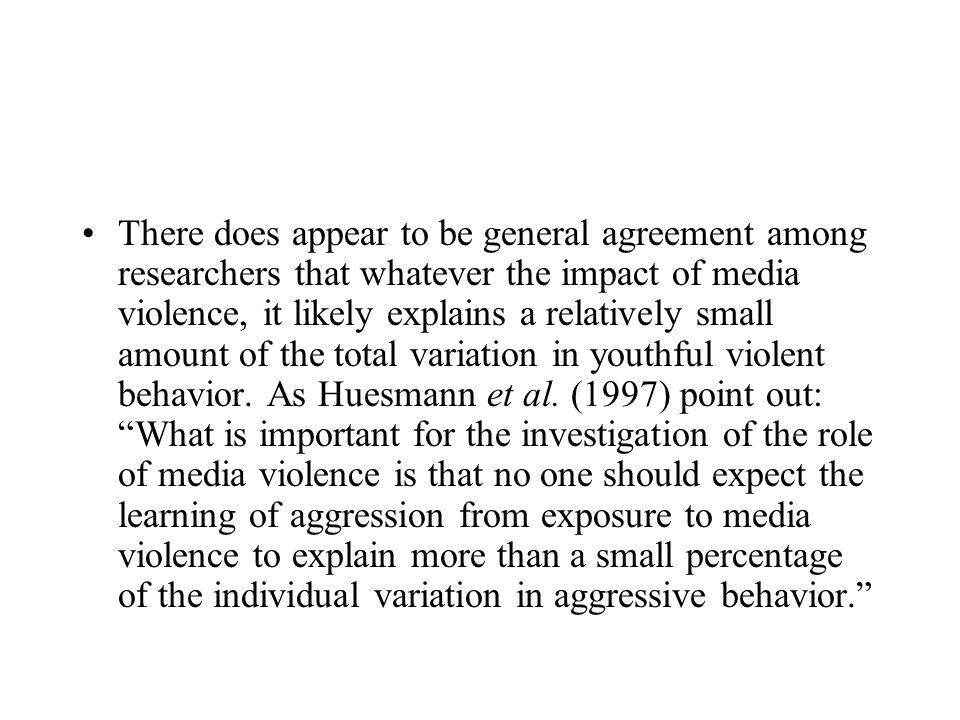 Does exposure to media violence cause aggression psychology essay