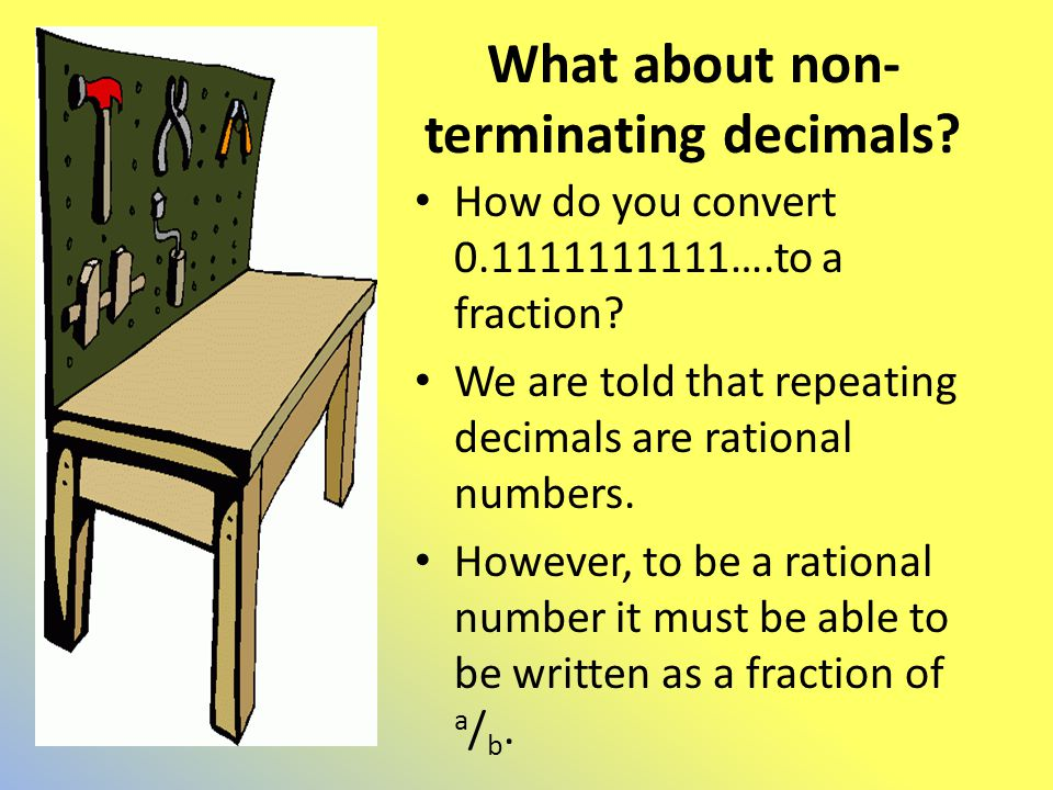 What about non-terminating decimals