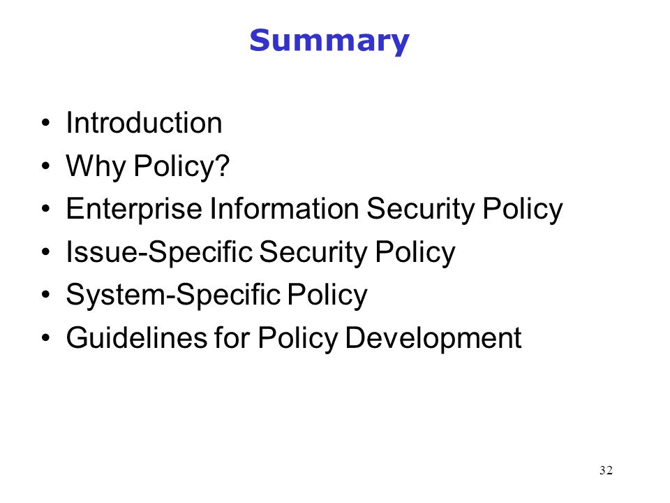 an overview of the policies procedures and standards of information security Security policies, standards and procedures it is a customized and comprehensive document which contains it security procedures that are to be reviewed and practiced by all cot employees cio-090 - information security incident response policy.