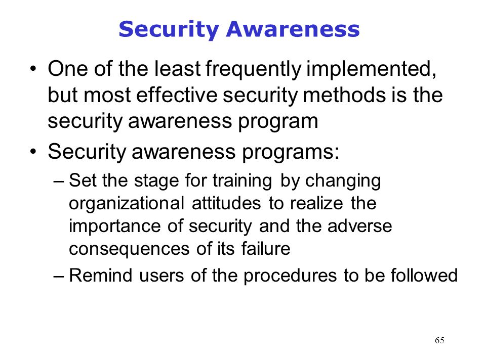 importance of awareness of the security The following is a guest post from our partner villbo group security awareness training is one of the best measures an organization can take to enlighten its staff.