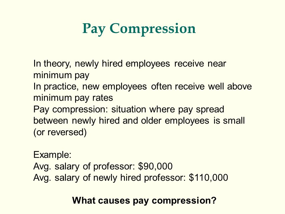 pay compression essay Pay compression and long-time employees: avoid the problem - compensation white papers on compensation administration.