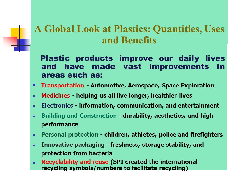 The discovery and use of plastics in everyday living