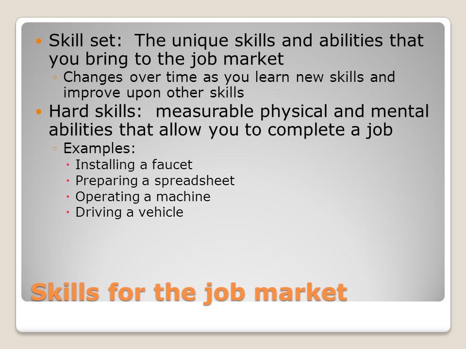 skills you would bring to a job